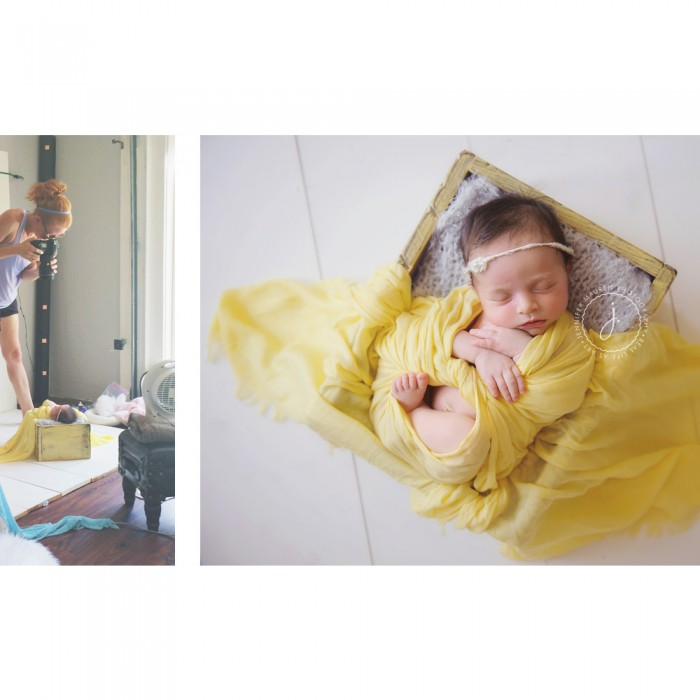 behind the scenes *before and after* | bradenton newborn photographer