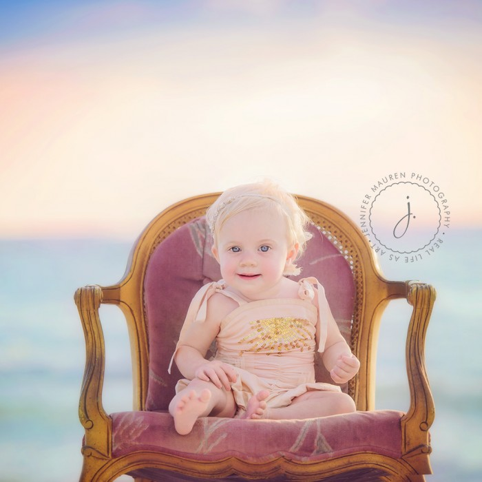baby on the beach!