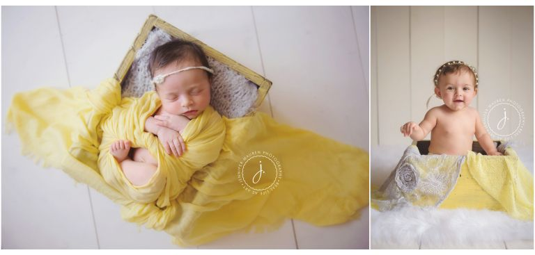 baby in yellow
