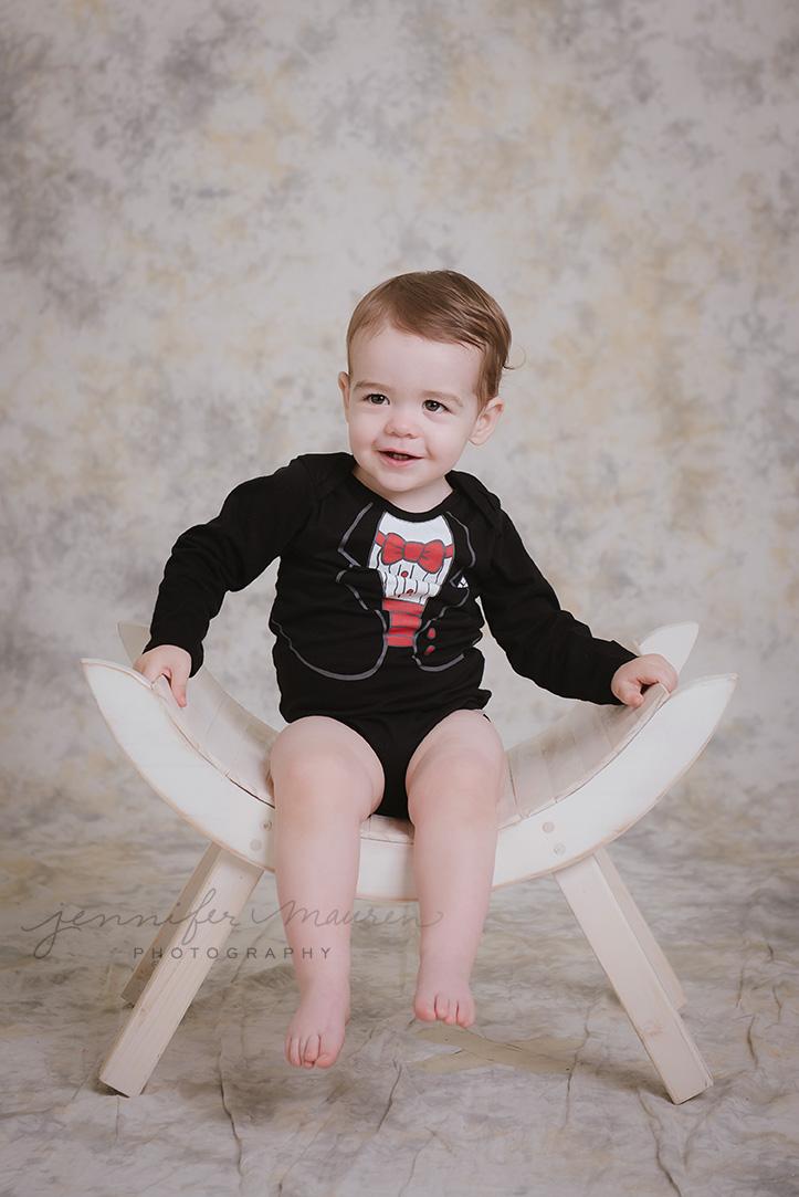baby boy tux onesie