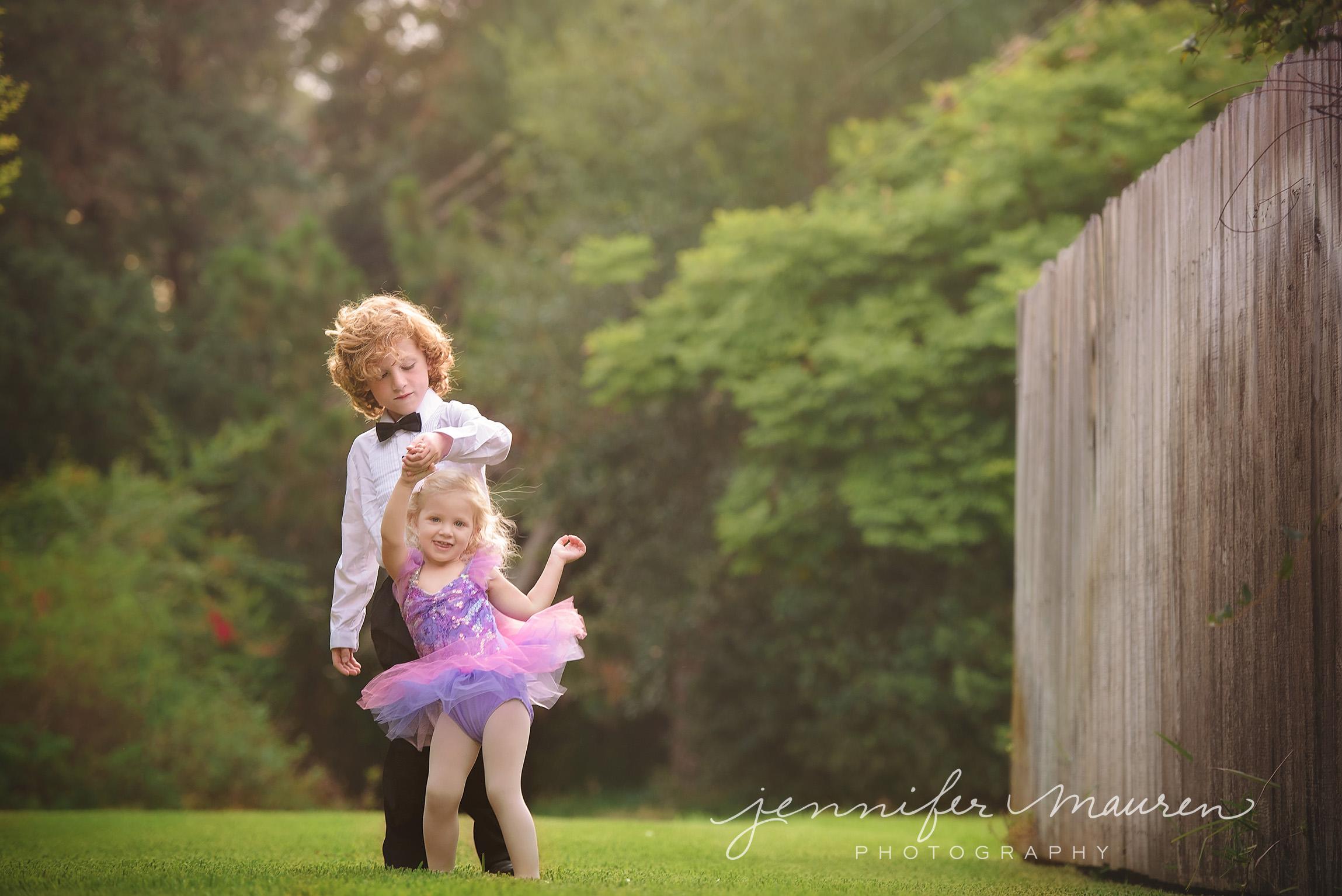boy and girl children dancing tutu tuxedo
