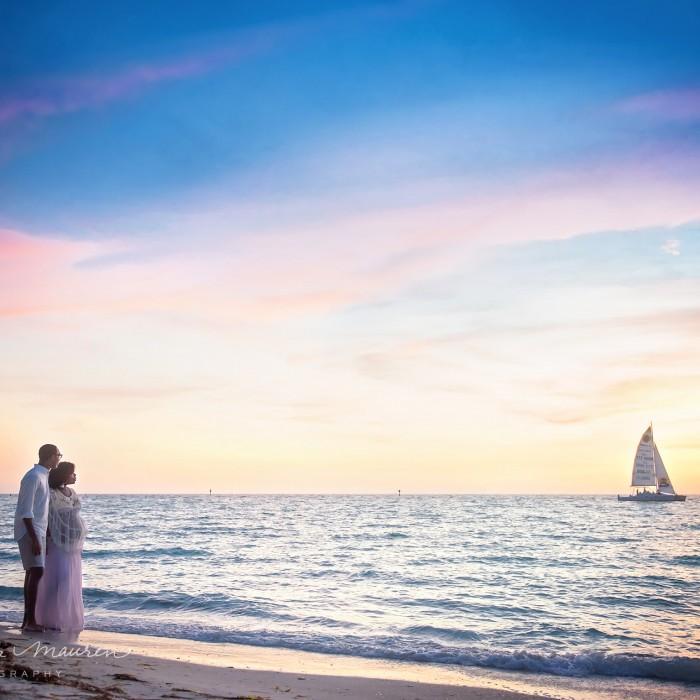 After Sunset... | Bradenton Sarasota Beach Maternity Photographer