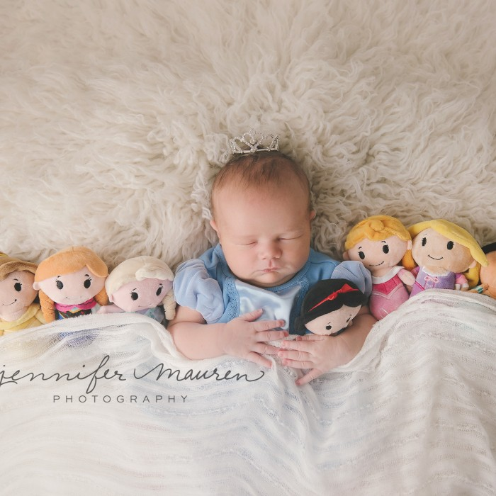 The princess has arrived!  109 years later!  Sarasota newborn baby photographer