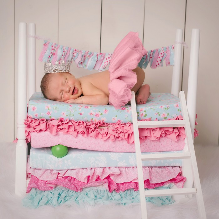 princess and the pea| bradenton sarasota newborn photography