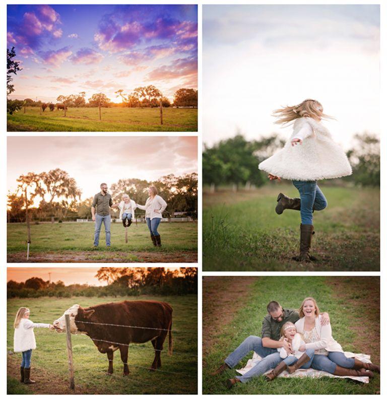 family trip to the farm