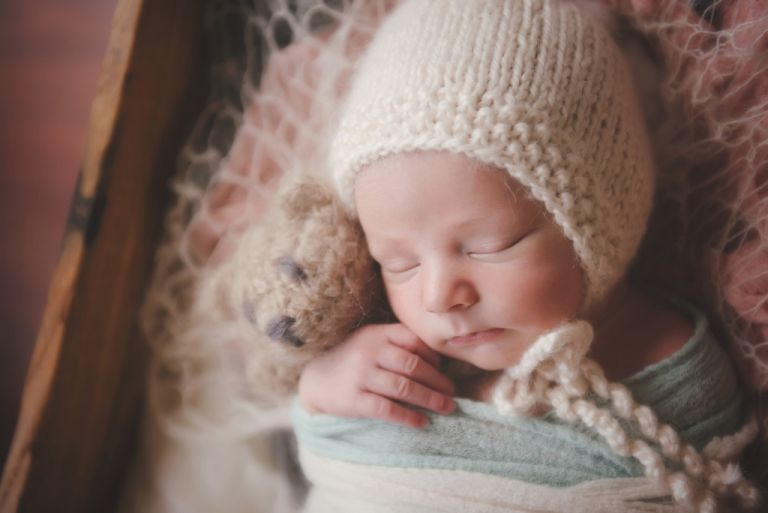 snuggled baby