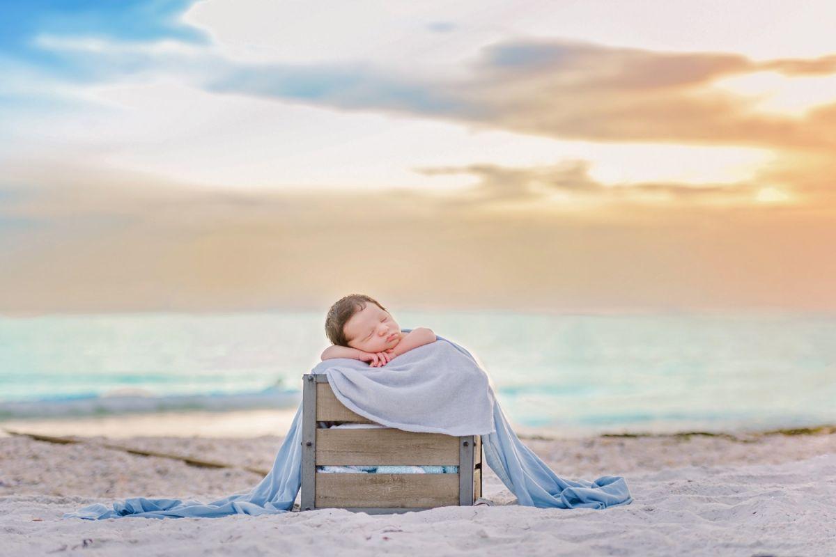 newborn beach portraits sarasota bradenton tampa