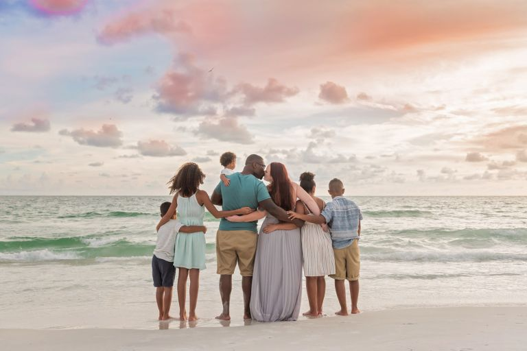 best family beach photography bradenton