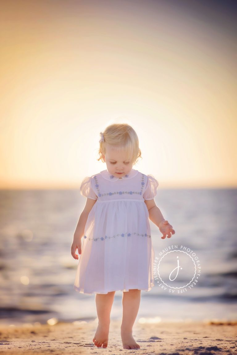 Lido Sarasota beach baby family photography