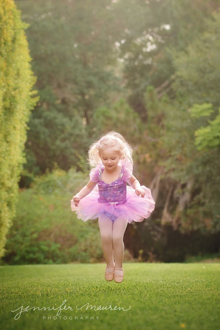 little girl dancing in ballet tutu