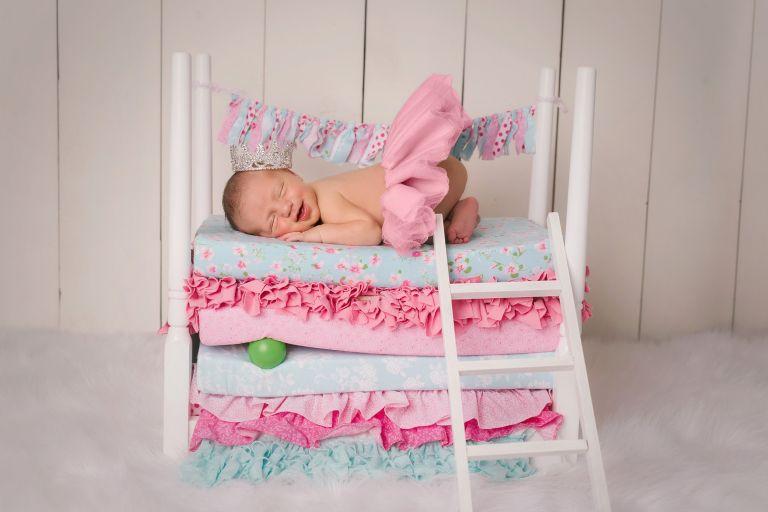 princess and the pea newborn